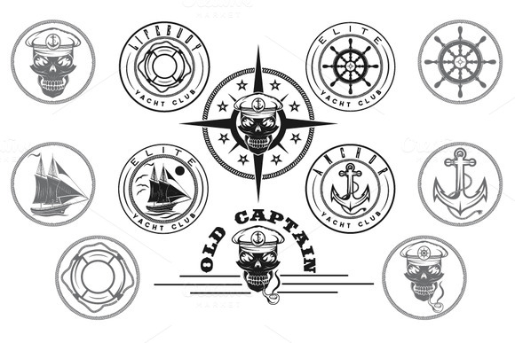 Yacht Club Labels