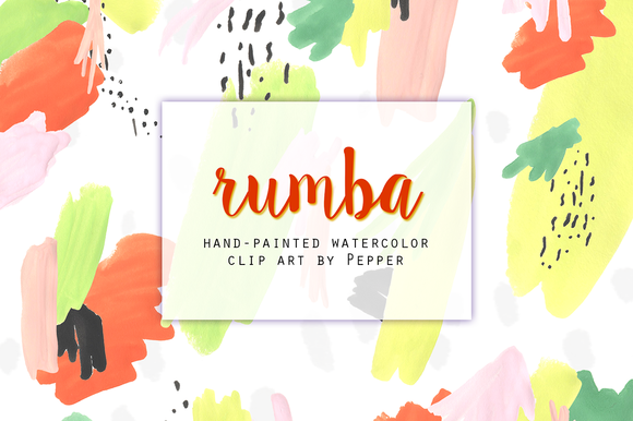 Abstract Pastel Watercolor Clipart