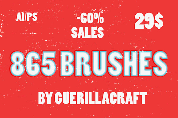 865 Brushes 60% SALES