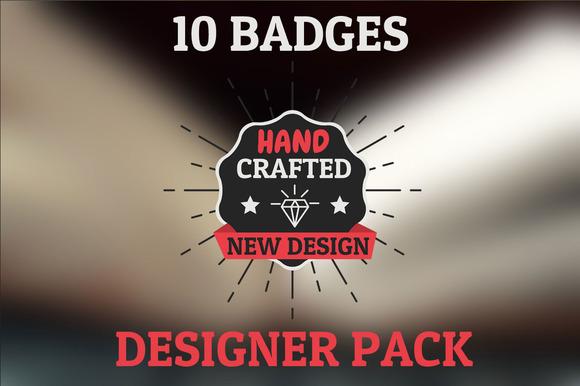 New Design Pack 10 HQ Badges