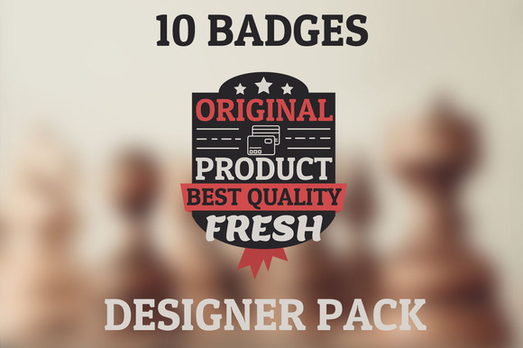 New Original Pack 10 HQ Badges