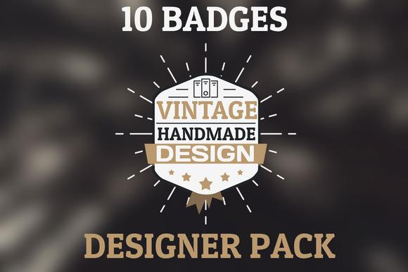 Old Vintage Pack 10 HQ Badges