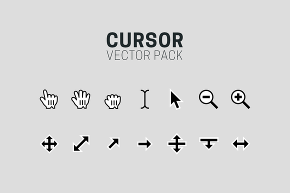 Cursor Vector Icons Full Pack