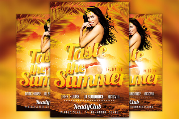 Taste The Summer Flyer Template