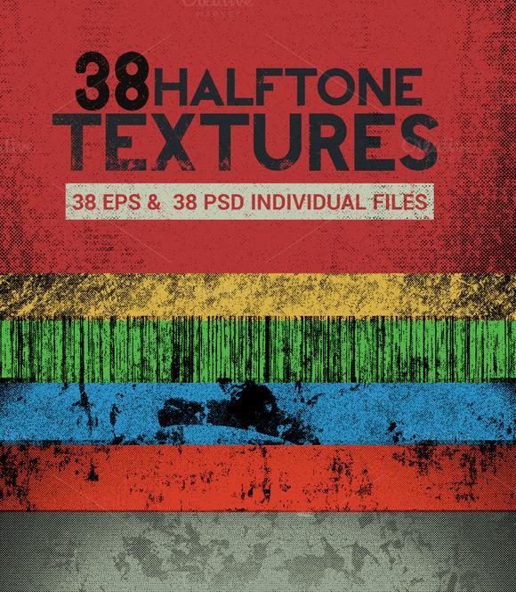 38 Vector Halftone Textures
