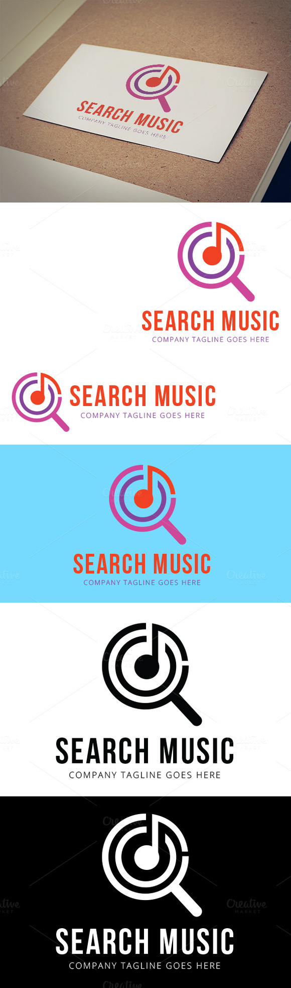 Search Music Logo Template