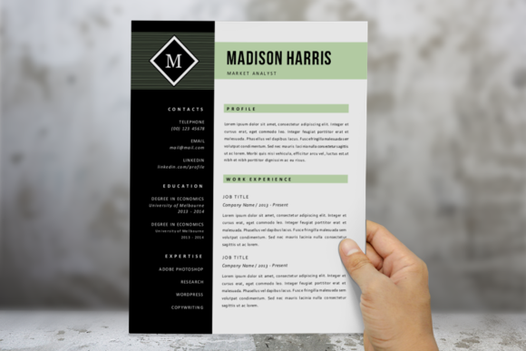 Green Diamond 2 P Resume Pack
