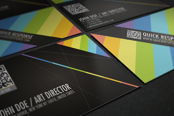 QR Code Business Card Design 02