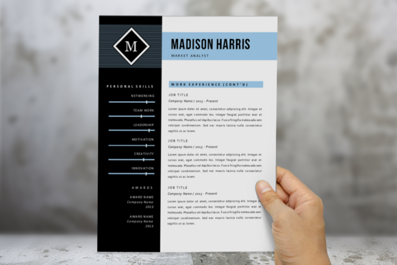 Blue Diamond 2 P Resume Pack