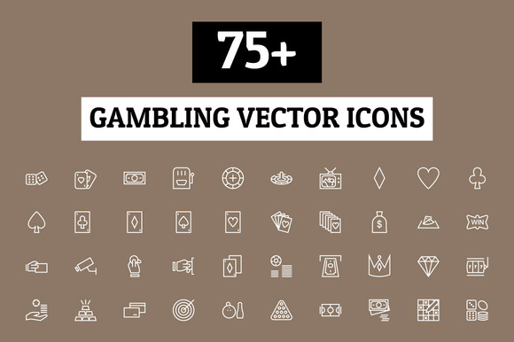 75 Gambling Vector Icons