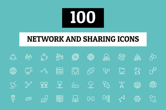 100 Network And Sharing Icons