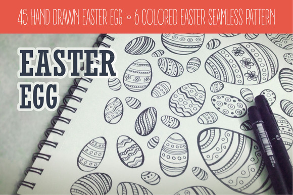 Easter Egg Hand-drawn Collection
