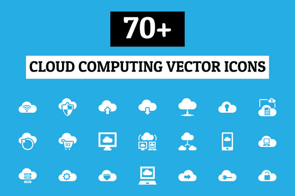 70 Cloud Computing Vector Icons