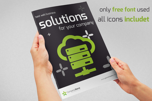 Bi-fold Web Solutions A4 Brochure