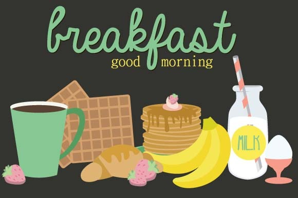 Breakfast Food Icons Set