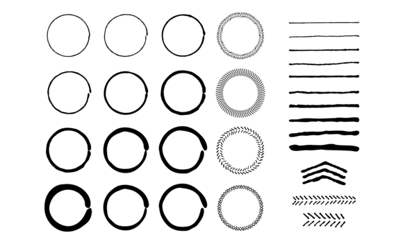 Hand Drawn Circles Lines Vectors