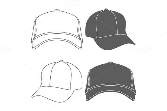 Baseball Cap Silhouette Template