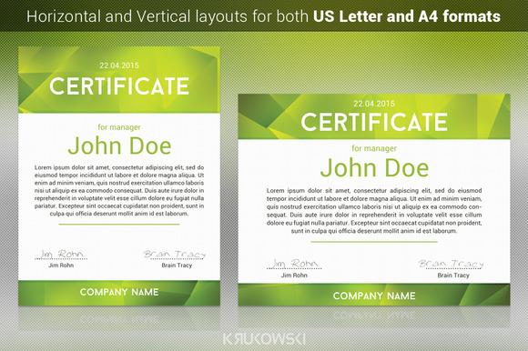 New Certificate Template