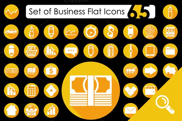65 BUSINESS Flat Icons