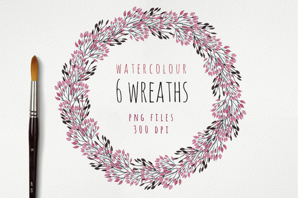 Watercolour Wreaths