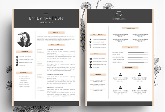 3 Page Resume Business Card