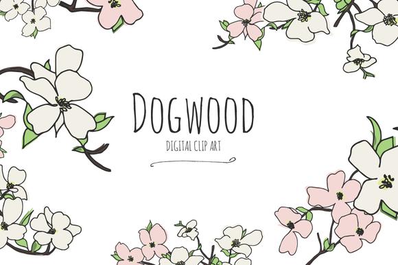 Dogwood Digital Clip Art