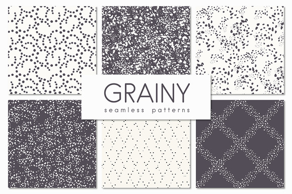 Grainy Seamless Patterns Set