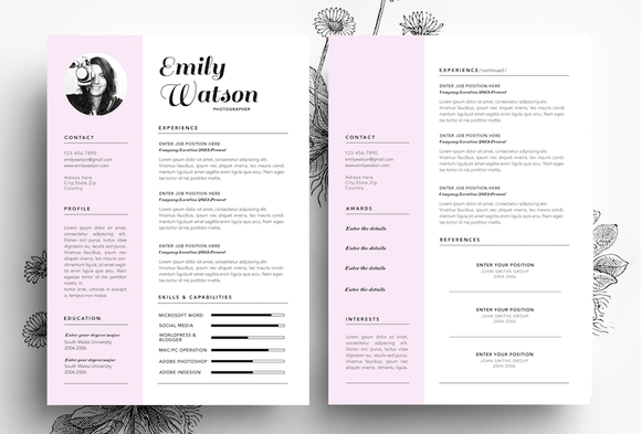 Resume Business Card PSD File
