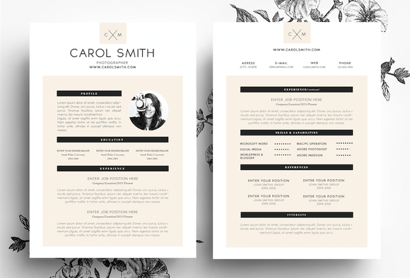 Custom CV Business Card Template
