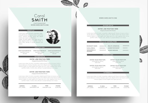 Resume And BusinessCard PSD Template