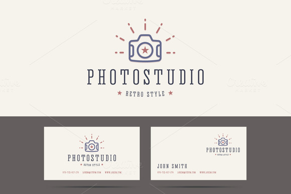 Photo Studio Logo In Retro Style