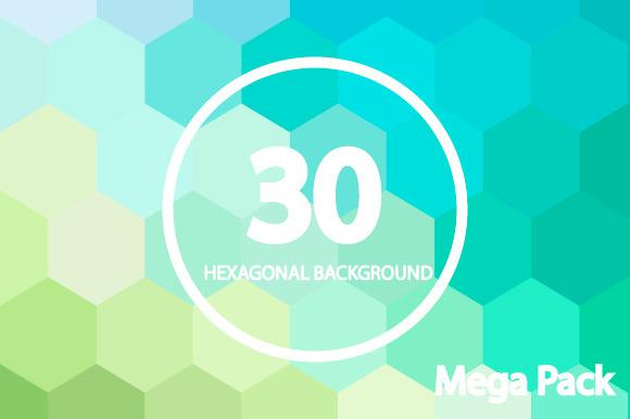10 Hexagonal Backgrounds Vol 1 2 3
