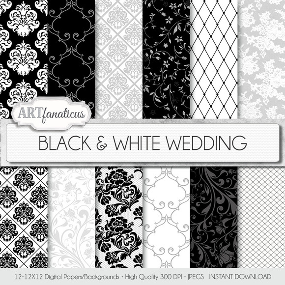 BLACK WHITE WEDDING