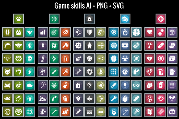 Game Skills Icons