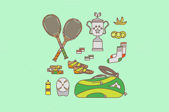 Tennis Equipment Set
