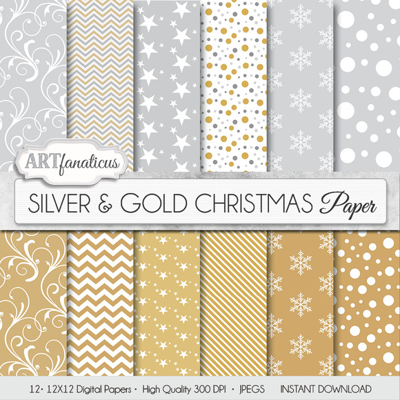SILVER GOLD CHRISTMAS