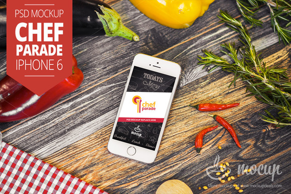 Chef Parade IPhone 6 Mockup A