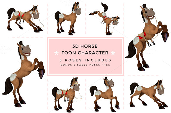 3D Character Toon Horse