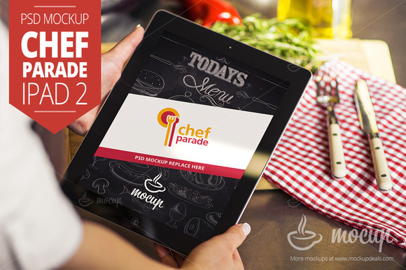 Chef Parade IPad 2 Mockup B
