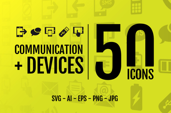 Comunication Devices 50 Icons