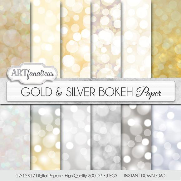 GOLD SILVER BOKEH