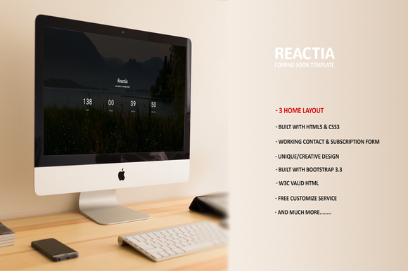 Reactia Coming Soon Template