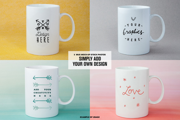 Coffee Mugs Stock Photo