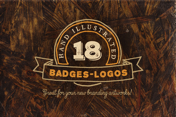 18 Hand Drawn Vintage Badges V.2