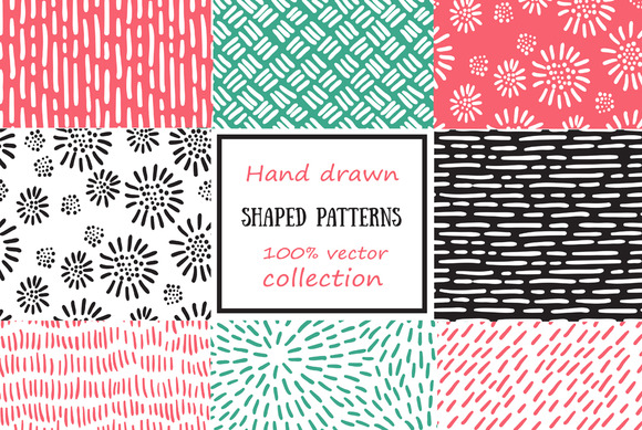 Set Of Seamless Shaped Patterns