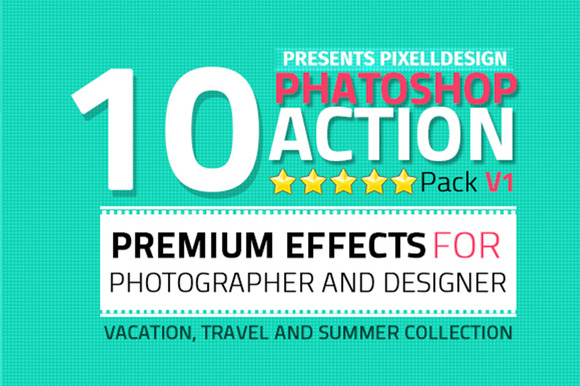 10 Photoshop Action Pack