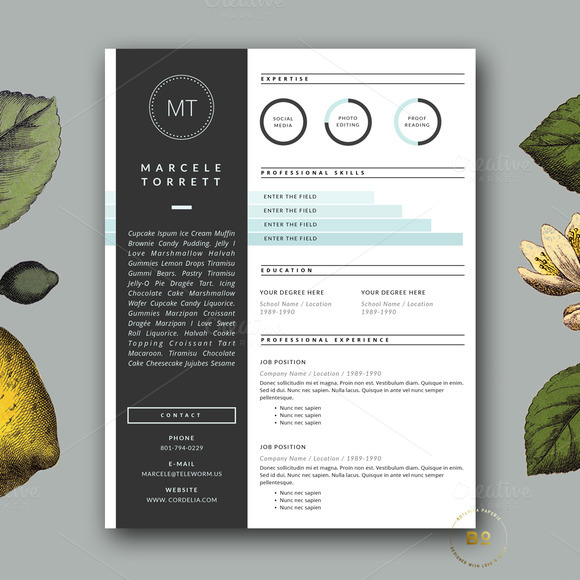 Modern CV Template For Word