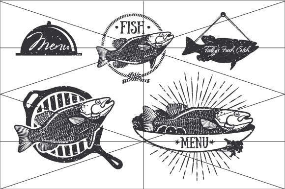 Fishing Logo Elements