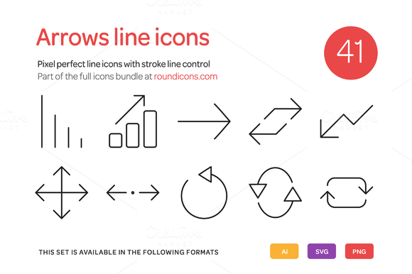 Arrows Line Icons Set