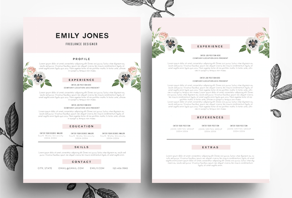 Resume Business Card PSD